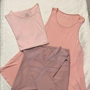 Pastel pink workout bundle